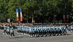 Indian Air Force contingent as a part of the Bastille Day Parade
