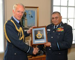 Meeting the RAF Chief