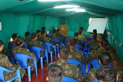 First briefing of Indian Air Contingent officers at Bukav