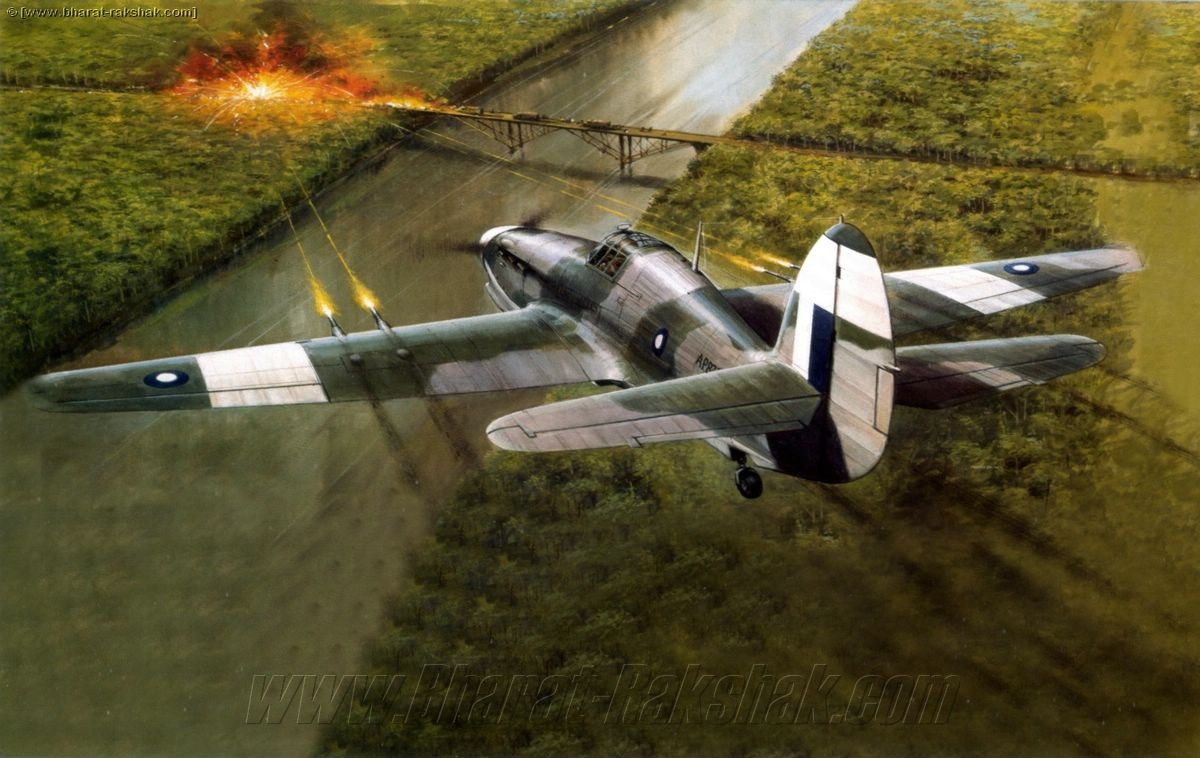 1944 Hawker Hurricane II in action at Arakan
