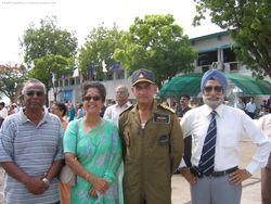 AVM Cecil Parker with the Naval Chief and his wife and Gp Capt Marwah