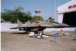 MiG-29 [KB3118] on display outside the Air India Hangar