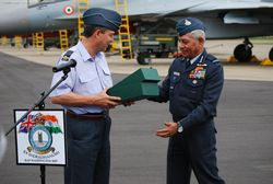 RAF and IAF chiefs.