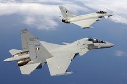 Sukhoi-30s square off with RAF Typhoons