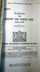 Indian Air Force List 1942