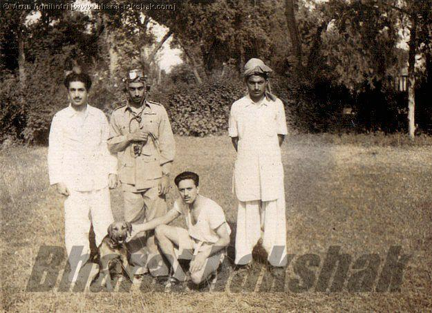Unidentified Pilot, and Pathan Bearers - Kohat, either 1944 or 1946.