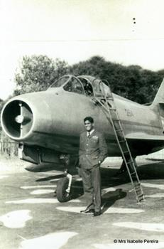 With a Mystere IVa Fighter Bomber.