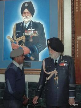 Nagaraj with the Marshal of the Air Force