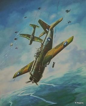 Vultee Vengeances Diving
