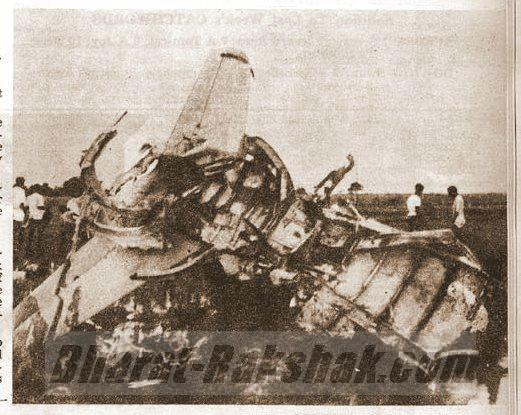 Pakistani Sabre Wreck at Kalaikunda (7 Sept 1965)
