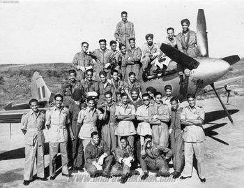 60th Course pilots on a Spitfire XVIII